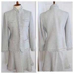 Anne Klein Tweed Charcoal Gray/Cream. Size 10P
